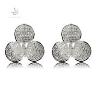 Dangle & Chandelier asian face products - The new product Promotion Favourite Best Sellers Vintage MN3156 Classic White Cubic Zirconia Shinning Copper Rhodium Plated Fashion Earrings