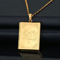 allah necklace gold - Allah Necklace Pendants Fashion Jewelry Women Men Gift Trendy K Real Gold Plated Locket Pendant Necklaces