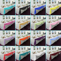 Wholesale New Many Colors M M Sheer Organza Swag DIY Fabric Wedding Party Banquet Top Table Decor Stair Valance Bow OS
