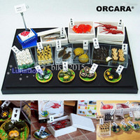 Wholesale Plastic Seafood ORCARA Japanese Food Miniature Dollhouse Dream Seafood Fish Market Rement Size Set of Dolls Accessories
