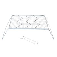 Wholesale Detachable Folding Stainless Steel BBQ Grills Outdoor Traveling Camping BBQ Grills Wire Mesh Barbecue Grill Net Party Supplies