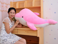 big plush dolphin - 2015 Big dolphin plush toy children birthday toy doll color changing pillow valentine gift DHL Fedex