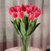 Wholesale Real Touch PU Mini Tulip Artificial Flowers Home Decorative Flowers Wedding Decor