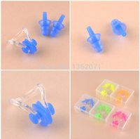Wholesale High quality Waterproof Soft Silicone Swimming Earplugs with Diving Nose Clips Water Protection Earplug