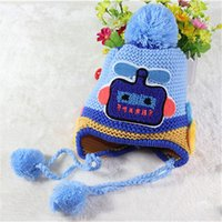 Wholesale 2015 New Baby knitting Hats Fashion Autumn Winter Hat Children Hat Girls Boys Retail years