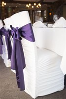 Wholesale 2015 Pinterest Hot Wedding Chair Sashes The Back Of The ChairWith Bow Satin Party Banquet Accessory Wedding Chair Ribbon