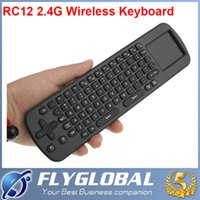 Wholesale Measy Mini Fly Air Mouse RC11 Gyroscope Handheld Remote Control RC12 GHz Wireless Keyboard for Google Android Mini PC TV Palyer Box