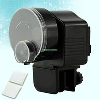 Wholesale Black Adjustable Automatic Aquarium Timer Auto Fish Tank Pond Food Feeder Feeding EG5436