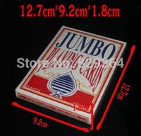 Wholesale Large Poker giant playing cards Game cm cm card deck Entertainment Magic Show Family Activities