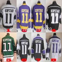 Men los angeles - NHL hockey Jerseys Los Angeles Kings Anze Kopitar Ice Hockey V Neck Authentic sport Jersey wjj194