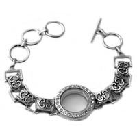 Cheap M00062 wholesale 2015 newest design hot sale floating locket bracelet Living Memory Glass locket bracelet