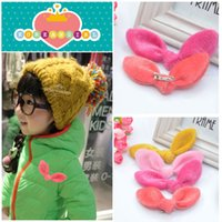 Wholesale Fashion Cute Children Gift Kids Baby Brooch Hand made Cloth Animal Rabbit Ear Brooches order lt no tracking