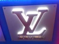 stainless steel, Acrylic, LED backlit led sign - LED backlit channel lettering illuminated signage stainless steel return letters signs advertise