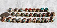 Wholesale DIY Loose Beads NBB203 Best offer Mix Nepal metal loose beads vintage spacers mm