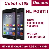 In magazzino! CUBOT S168 Mobiel telefono MTK6582 Quad Core 1.3GHz Android4.4 1GB + 8GB 8.0MP 5,0 '960 * 540 IPS Conservare Wifi schermo Play / Mary