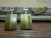 antique scent bottle - 25 MM diy jewelry accessories FASHION Perfume bottle charms vintage antique bronze scent bottle charm pendant beads