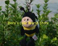 bee keyring - Bee Plush Pendant Keychain Keyring Plush Toy Gift