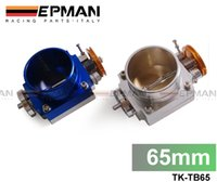 Wholesale UNIVERSAL mm THROTTLE BODY Silver Blue TK TB65