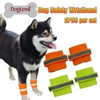 Wholesale Wrist fluorescent dog booties in large golden husky pet safe walking at night wrist sleeve