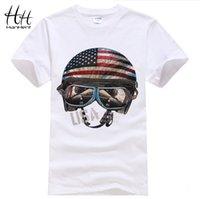 best helmet brand - American Flight helmet brand Men T Shirts Anime rock best quality tshirt camisetas Cotton crossfit Swag fashion Poker t shirt
