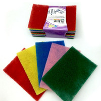 cleaning rags - Home Essential Color scouring pad Cleaning Cloths to wipe cloth dish cloth rag Household Cleaning Tools