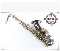 Wholesale DHL SUZUKI B Suzuki tenor saxophone instrument gold black nickel surface