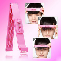 Wholesale Fashion Daily DIY Girls Hair Cutting Guide Layers Bang Artifact Styles Scissor Clipper Comb Fringe Cut Hairdresser Tool ho601935