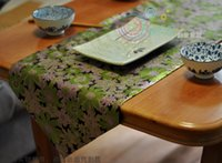 Wholesale Runners Freeshipping Rushed New Limited Tablecloth Handmade Chinese Style Table Runner Japanese Aesthetic Embroidery Home Hotel Decoration