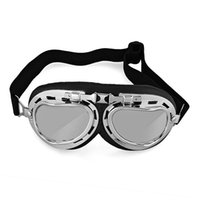 Wholesale New Vintage Style Aviator Motorcycle Bike Goggles Helmet Glasses Protection New SKI Goggles case Sport goggles