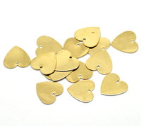Wholesale hot Brass Blank Stamping Tags Pendants Love Heart for Necklaces Earrings Bracelets etc B18581