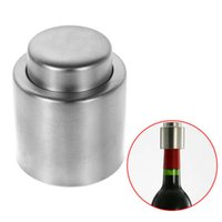 Metal applied steels stainless - Hot Silver Elegant Stainless Steel Vacuum Sealed Sealer Wine Bottle Stopper Apply to Restaurants Hotels Bars Clubs KTV Cafes