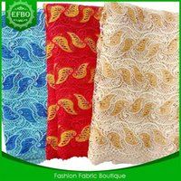 Wholesale 2015 African guipure lace for nigerian wedding dress Latest guipure cord lace Swiss african cord lace high quality for wedding dress