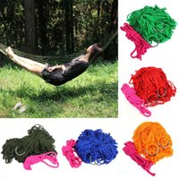 Cheap Nylon Hammock Hanging Mesh Sleeping Bed Swing Outdoor Camping Travel New Freeshipping & wholesale