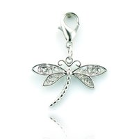 Wholesale Latest Fashion Exquisite Vintage Alloy Dragonfly Lobster Clasp DIY Style Charms Pendant Jewelry Accessories