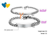 Wholesale Titanium Bracelets Price for A Pair for Ladies for Men Couple Jewelry Shipping Wordwidlely Drop Shipping