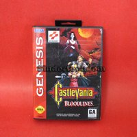 Wholesale DC MD SS SEGA Memery Cards Castlevania Bloodlines Game Cartridge bit NTSC USA MD Game Card With Retail Box For Sega Genesis