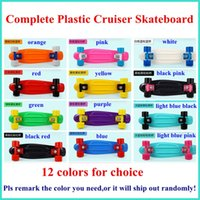 Wholesale 58 CM Complete Plastic Cruiser Skateboard Street Surfing Blue Board Old School Penny Skateboards colors for choice