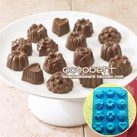 silicone soap molds - High Quality Holes Flowers Cake Molds FDA grade Silicone Soap chocolate pudding baking molds Factory