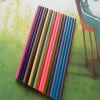 Wholesale 6sets wooden High quality color pencil colors styles for kids drawing student present pencil