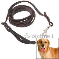 Wholesale Dog Ropes m Genuine Leather Braided Harness Lead Leash Traction Rope Dog Rope Chain for Puppy Dog Pet A Quality NO Stylish