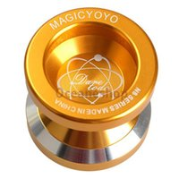 Wholesale Cool Gold YOYO Magic Yo yo Dare to do String Trick Gold Aluminum Magic YOYO Funny YOYO BHU2