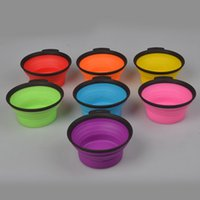 Wholesale Foldable Folding Pet Dog Cat TPF Travel Food Water Bowl Bowls Collapsibe Portable Pet Bowls DHL FEDEX