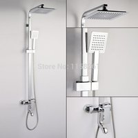 Cheap Retail- Luxury High Quality Brass Head Rain Shower Set, Thermostatic Mixer Overhead Shower Set, Wall Mounted, Free Shipping 2083