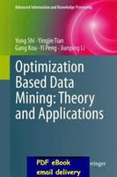 based applications - Optimization Based Data Mining Theory and Applications