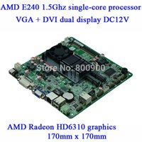 amd manufacturer - Manufacturers supply industrial motherboard HD6310 AMD E240 Ghz games ITX board MSATA Y45_2L DDR3 VGA DVI dual display DC12V