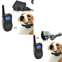 Wholesale New Pet Supplies Blue screen Waterproof Remote Shock Rechargeable LCD Pet Dog Training Collar T1068 SYSR