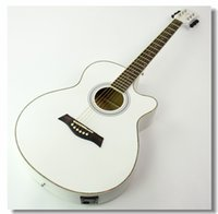 Wholesale 40 inch basswood folk missing Angle acoustic guitar practice piano jita AG40 matte white