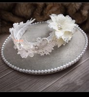 unique hair accessories - Newest Summer Headbands Bridal Accessory Bride Hair band Lace Handmade Flower Lace Crystal Unique Women Girls Headpiece Evening Prom