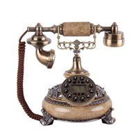 Wholesale Quality antique telephone fashion phone vintage fashion phone blue screen hands free