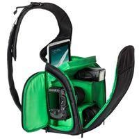 amateur photography - Contact Lens Case Hot Sling Polyester Soft Bag Black Bag for Camera Slr New Case Amateur Photography Waterproof Dslr Backpack Brand